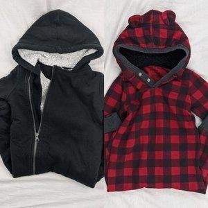 2pcs Hooded Onesies Teddy/Fleece Lined 2T